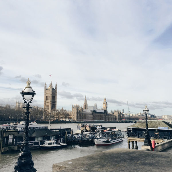 Architecture Building Exterior Built Structure City Cloudy Depth Of Field Famous Place International Landmark IPhoneography London Mobilephotography Outdoors Sky Uk Water Waterfront Cityscapes Colour Image Thames