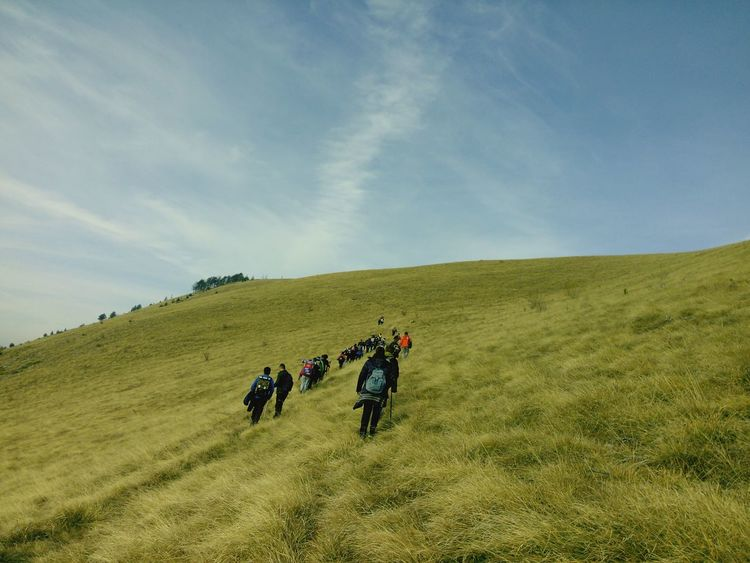 Hiking Sky Landscape Adventure Hill Tourism Travel Destinations Nature People And Places