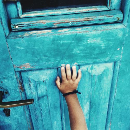 Blue One Person Human Body Part Close-up Day People Outdoors Amorgosisland Amorgos Childhood Child Children Only Doors And Windows Around The World Doors With Stories