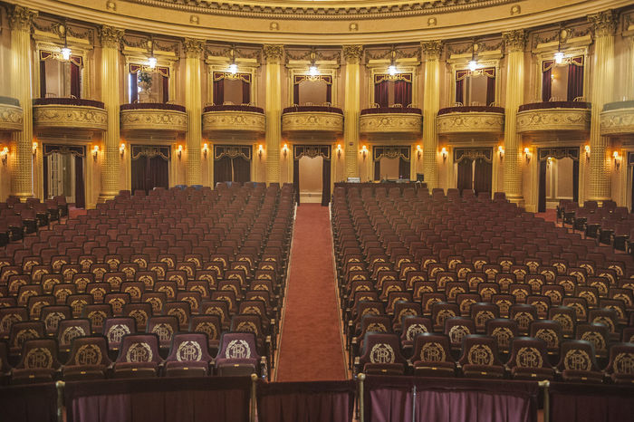 Architecture Auditorium Built Structure Chair Classical Music Concert Hall  Courtroom Day Government Indoors  Music Musical Theater  Nightlife No People Performing Arts Event Stage - Performance Space Stage Theater