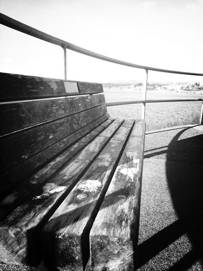 Benches Sitting Outside Cold Days