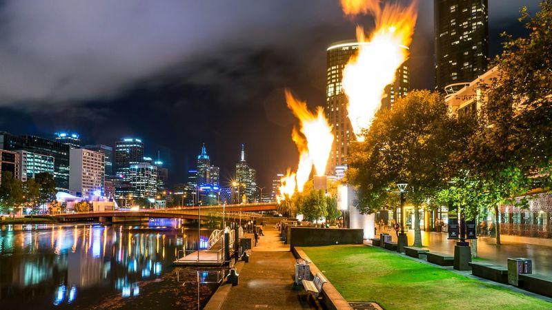 Darkness And Light Sony Nightshot EyeEm Melbourne Melbourne Crown Resorts Fire EyeEm Best Shots - Long Exposure Long Exposure