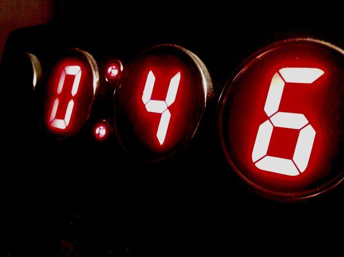 Watch The Clock Red Night Digits EyeEmNewHere