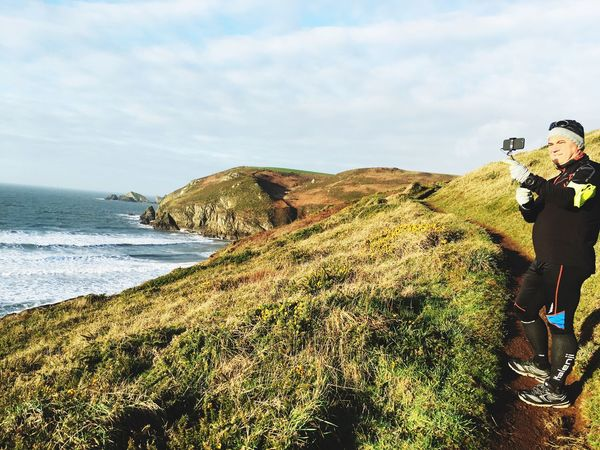 Kalenji Running Runner Wales Coastpath Coast Nature One Person Outdoors Sea Beauty In Nature