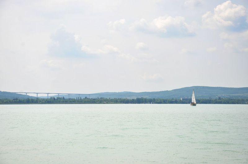 Water Sky Day Nature Summer Lake Tihany Balaton Hungary No People Horizon Horizon Over Water