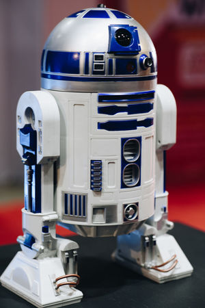 R2 D2 toy of famous star wars franchise R2-D2 R2D2 Toys Close-up Darkside Day Indoors  No People Robot Star Wars Collectables Starwars Starwarstoys Tower