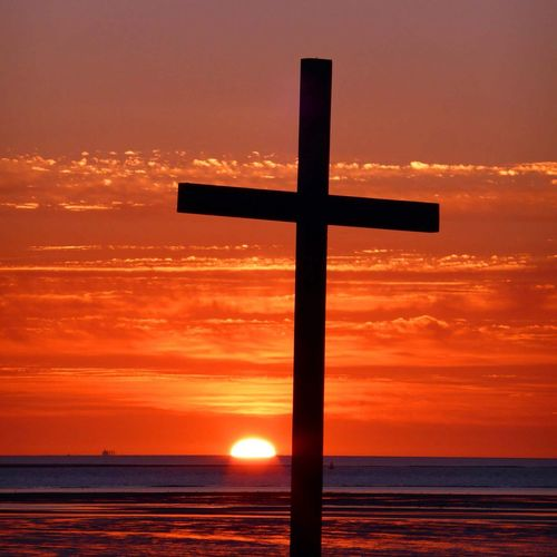 Easter greetings from Another Place, Crosby beach, near Liverpool. Crosby Beach Anotherplace Sunset Sea And Sky