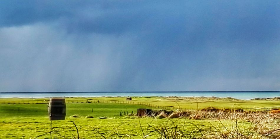 The Rain Is Coming The Horizon Dark Sky Bright Light Landscapes With WhiteWall