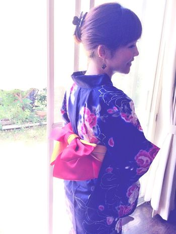 The yukata which mother made♡