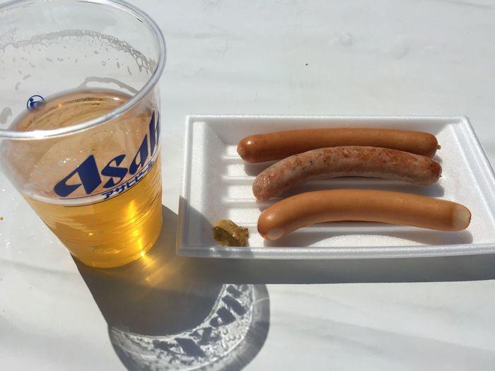 ビールとウインナー盛合せ