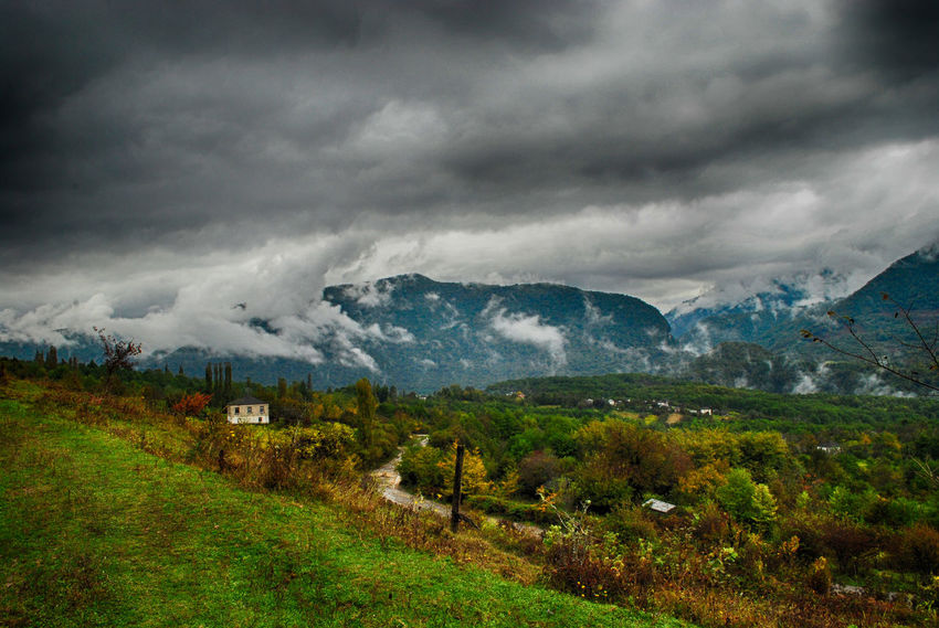 Beautiful clouds Beauty In Nature Landscape Landscape_Collection Valley Valleys Thunder Clouds Thunderclouds Little House Travel Photography Travel Destinations Abkhazia Kodor Green Valley Green HDR Hdr_Collection Hdrphotography