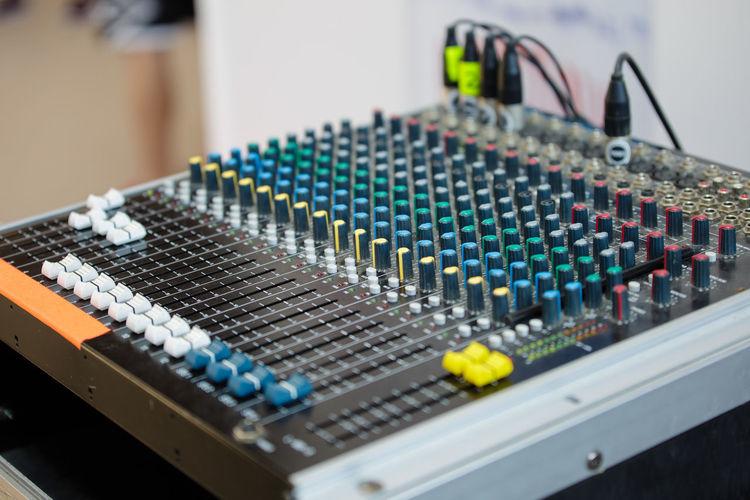 Professional audio sound mixer control, electronic music equipment.