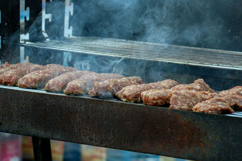 Barbecue Close-up Day Food Food And Drink Freshness Grill Grilled Grilled Minced Meat Rolls Grilling Meat Mici Mititei No People Outdoors Preparation  Romanian
