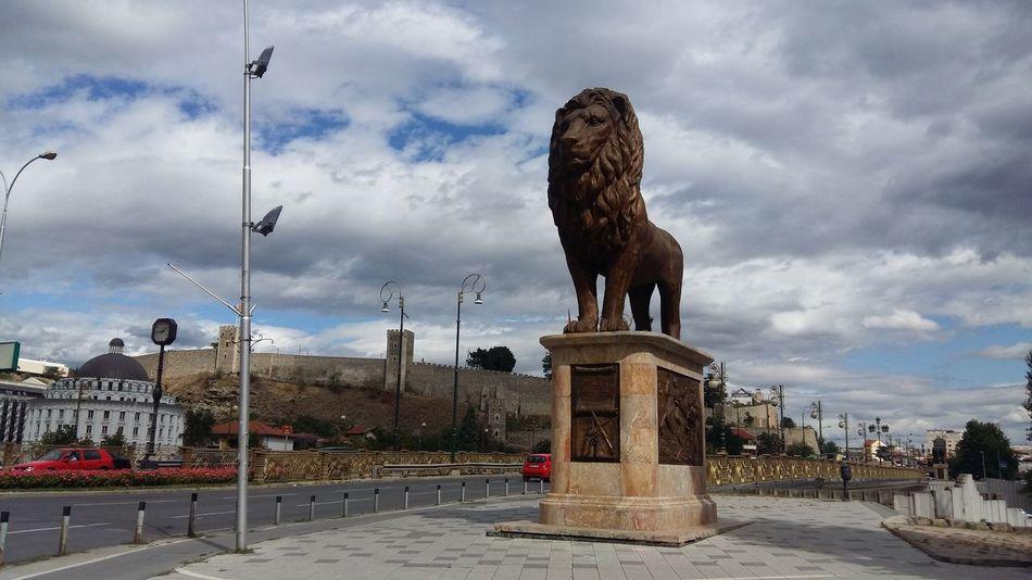 Statue Sculpture Memorial Travel Destinations City Skopje Skopje Macedonia Monument No People Outdoors Capital City Balkans Balkans Europe
