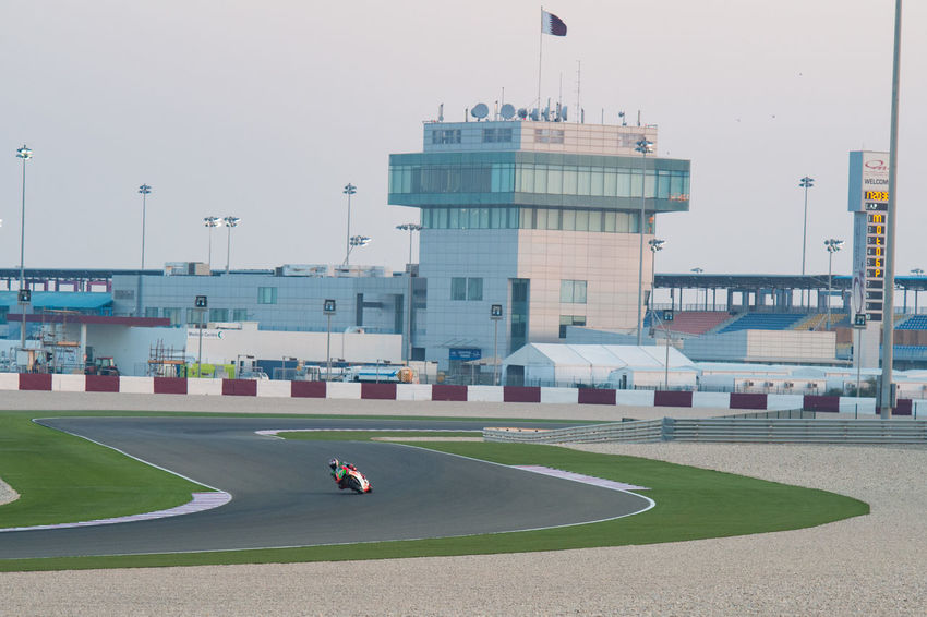 MotoGP riders during the final preseason test before the start of the 2016 MotoGP season Control Tower Losail LosailCircuit Motogp MotoGP2016 Motorcycle Motorsports Preseason Qatar Race Racing Test