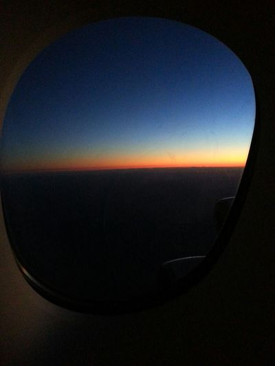 From An Airplane Window Sky Is Blue Photography