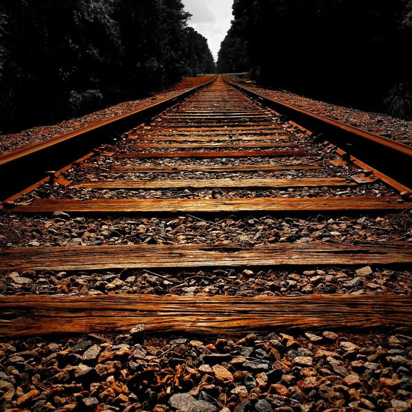 A rustic view of the towns Railroad tracks. RusticWays Rustic Railroad Tracks Smartphonephotography PhotographybyTripp