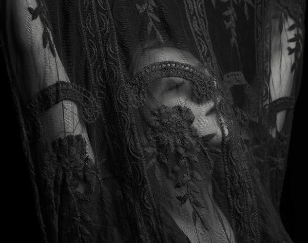 Lace Lace - Textile Portrait Of A Woman Portrait B&W Portrait B&w Mystery Pr0ject_soul Pr0ject_uno Rsa_ladies Utahphotographer Close-up