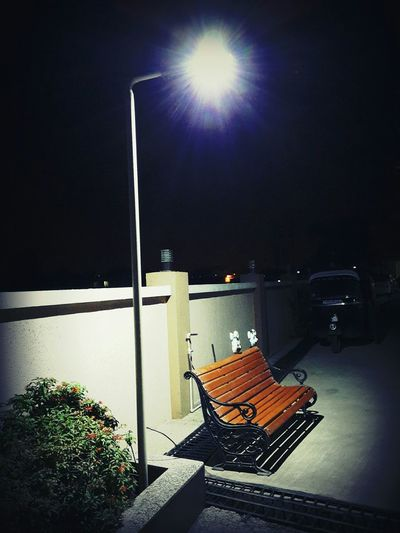 Creative Light And Shadow Nighttime Streetlight Emptybench Silence and Calmness First Eyeem Photo