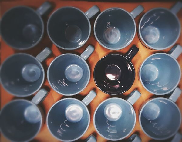 Large Group Of Objects Industry Cups On Table Stacked Diversity Blue Black Group Of Objects EyeEm Diversity EyeEm Selects