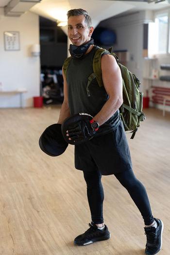 Man working at gym