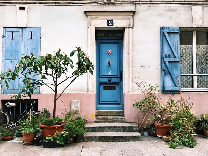 Paris Streets Of Paris Rue Crémieux Building Exterior Architecture Built Structure Building Entrance Plant Door