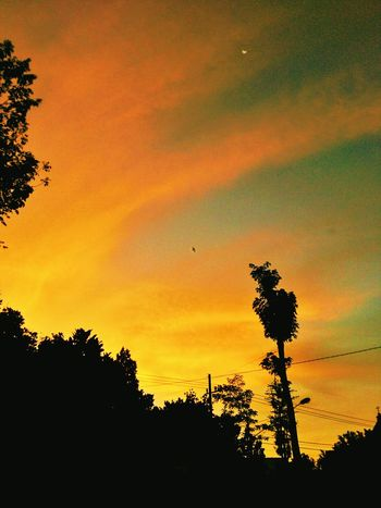 Orange Clouds And Sky Beauty In Nature Skylight Landscape Colorsky First Eyeem Photo INDONESIA