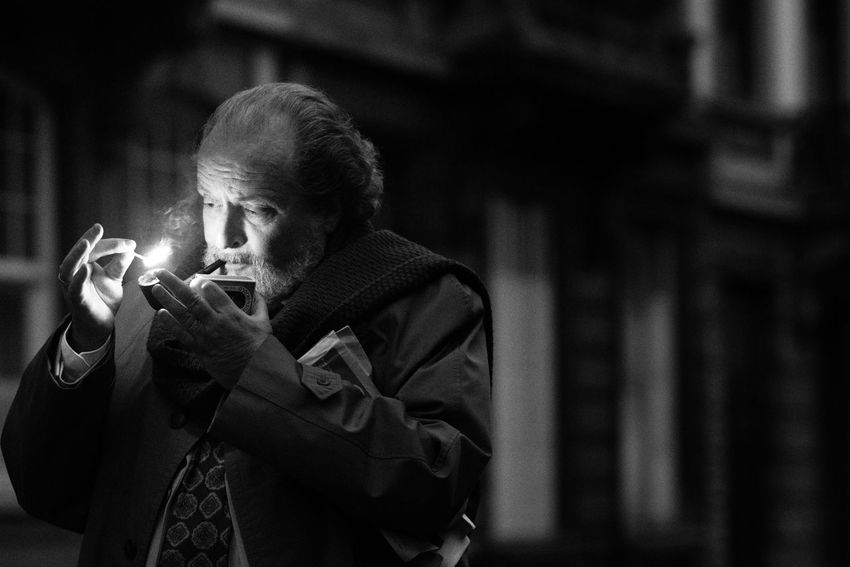 Classy Pipe Smoke Smoking Streetphoto_bw Outside Street Streetphotography Street Photography One Person Men Adult Holding Real People Focus On Foreground Leisure Activity Portrait Front View