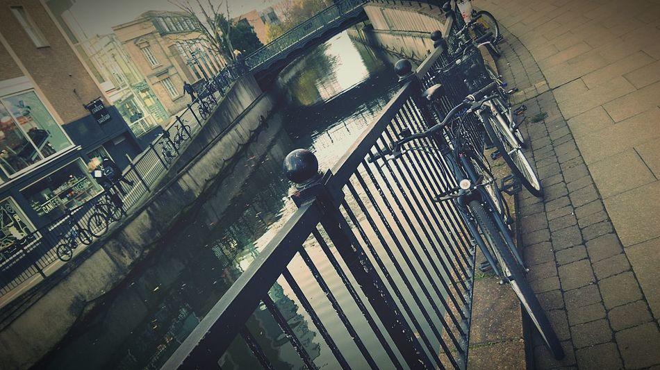 River Riverside Riverwalk Bridge Bikes Parked Bikes Street Photography City Life Citylife Railings Walking Around Reflections HTC One