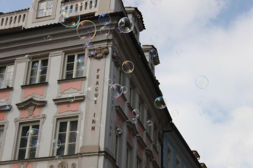 Bubbles Czech Republic EyeEmNewHere Prague Building Building Exterior Colorful Sky Soap Bubbles No People