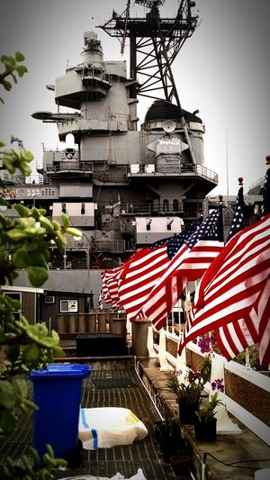 Navy Travel Check This Out Architecture Famous Place Battleship Patriotic Perspective Tropical Climate Preservation Restoration In Progress Mighty Moe American Flag American Bulldog