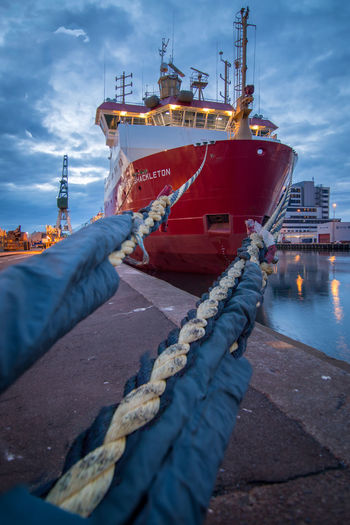 On a habor walk shot the RRS Ernest Shackleton, which transports scientists, supplies and cargo to the Antarctica. refit in 2017, near the dry dock. Antarctic Antarctica Cargo Ship Ernest Shackleton Exploring New Ground Habor Ice Braker Journey Journeyphotography Refit Rrs Ernest Shackleton Science And Technology Ship Vessels In Port Tokina 11-16 Mm F/2,8 It's About The Journey