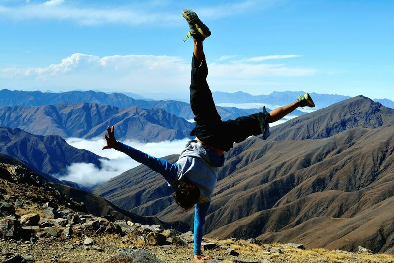 Mountain RISK Stunt Skill  Sky Outdoors Adult Nature