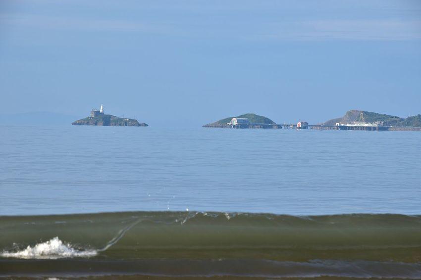 Taking Photos Swansea Bay Waves Seaside Mumbles Nikon D5500