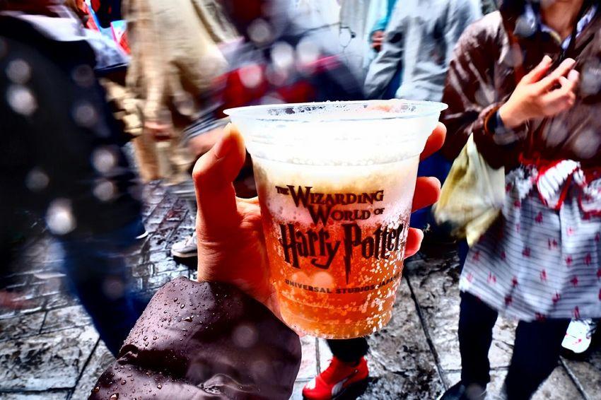 USJ Universal Studios Japan Harrypotter Butterbeer Rainning Cool Goodtaste Cup Wizard Drink