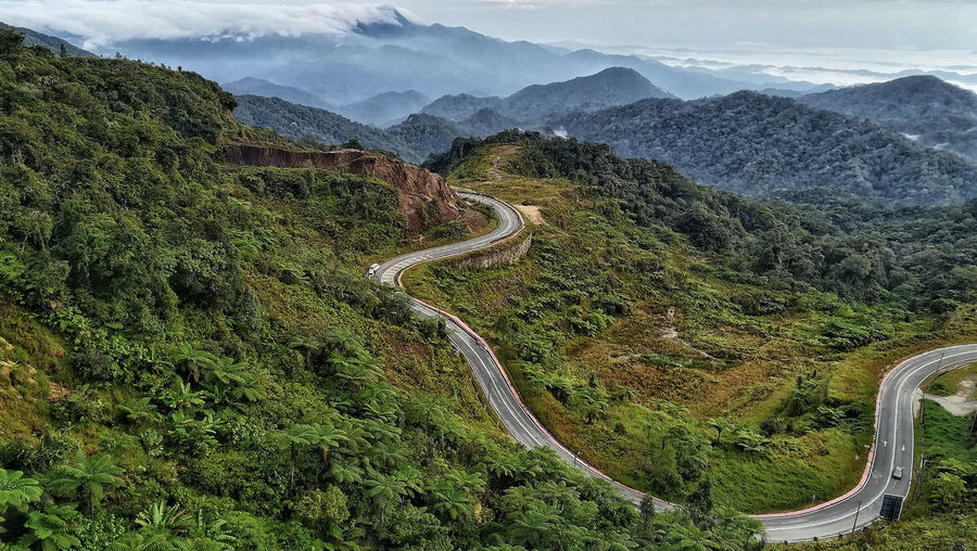 Highland mountain view Mountain Travel Destinations Scenics Nature Sky Landscape Beauty In Nature No People Tree Outdoors Malaysia Greenery Genting Highland Malaysia Road