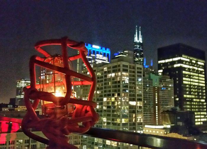 Chicago ♥ Chicago Skyline Chicago's Skyline Chicago Night Night Lights Night View Buildings Building Structures Taking Photos Enjoying Life