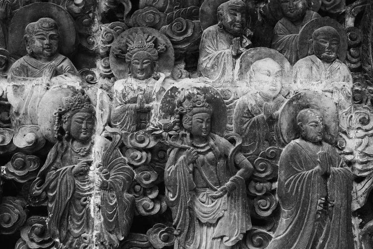 Statue Sculpture Religion Close-up OpenEdit Old-fashioned China Chinese China Photos Architecture EyeEm Gallery Black & White Black And White Outdoors
