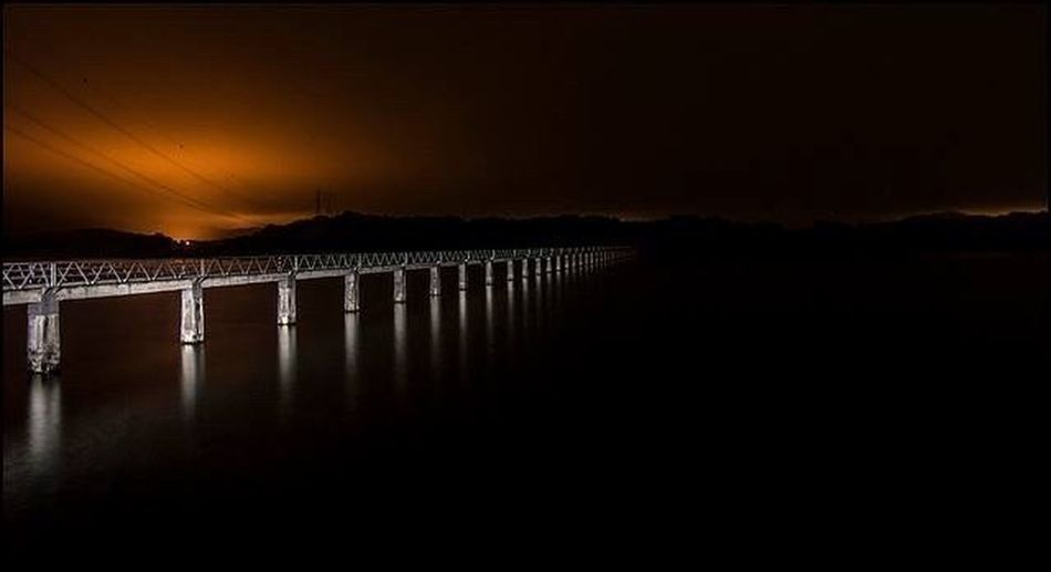 Bridge Nightphotography Night Lights North Of Spain Spanish Coastline Night View Water Reflections Natural Water Natural World Mistery Coast
