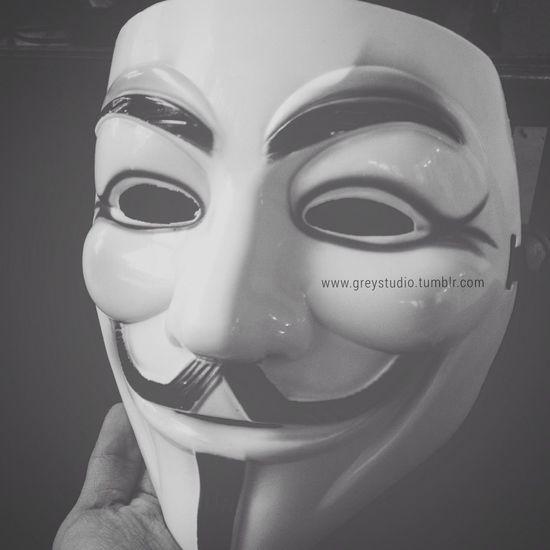 Vforvendetta  Mask Blackandwhite