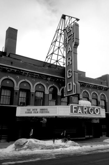 QVHoughPhoto Fargo Northdakota Fargotheatre Filmfestival Marquee Snow Theatre Blackandwhite IPhoneography IPhone4s