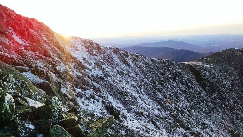 It's Cold Outside Been There. Done That. The Week On EyeEm Peaking Mountain EyeEm Selects Perfect Match Mount Washington  The Great Outdoors Backwoods Optoutside Sunlight Nature No People Climate Change Freelance Life Mount Washington  Camping Winter Cold Temperature Freedom Sunset