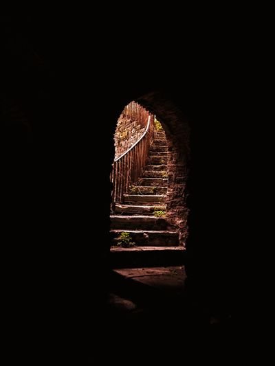 Secrets are Beautiful ❤️ IPhoneography Mobilephotography Secret Garden Historical Building History Stairs Dark No People Illuminated Outdoors