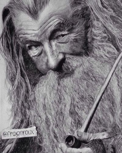 Gandalf pencil and pastel on paper Pencil Drawing Pencilart Pastel Drawing Drawings My Drawing Gandalf TheHobbit
