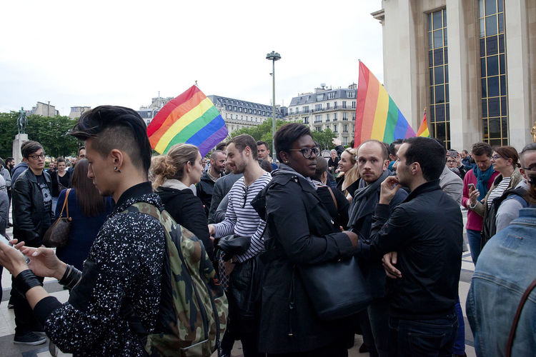 Solidarity with Orlando Against Homophobia Against Terrorism City Life Gay Gay Comunity Gay Solidarity Lgbt Orlando Paris Pride Rainbow Rainbow Flag Rainbowflag Sad Solidarity Solidarity With Orla Support Gay Trocadero