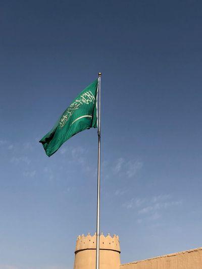 Riyadh Saudiarabia Saudi Arabia Nature Patriotism Waving Blue Wind Architecture