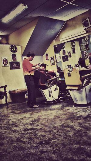 Barber @ work First Eyeem Photo