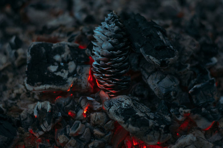 Ash Burning Close-up Coal Day Flame Freshness Heat - Temperature Lava Nature No People Outdoors