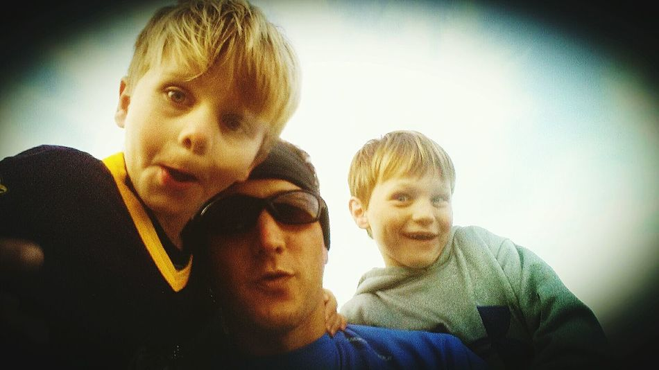 We Are Family Being Silly Single Dad Love My Boys ❤ Blessed A Day of Football and Silliness with my boys