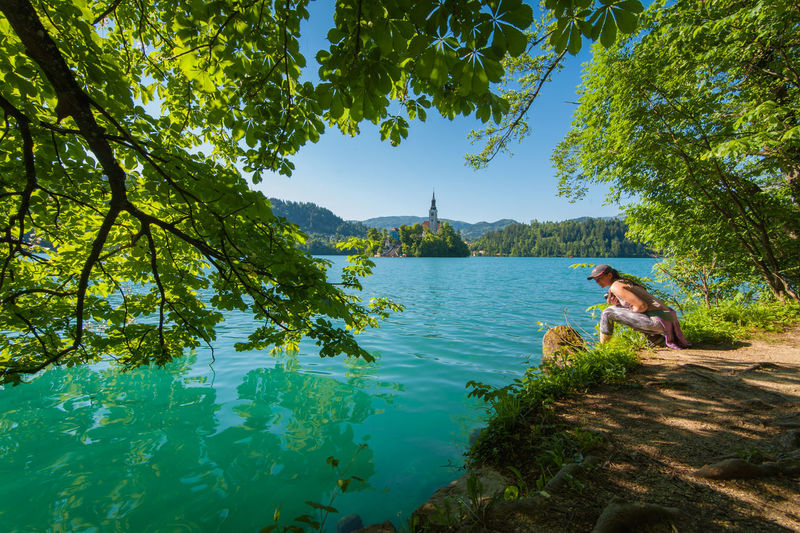 Lake Bled is a magic place Green Hills Lakeview Natural Beauty Nature Nature Photography Slovenia Tranquility Travel Travel Photography Tree Bledisland Bluesky Emerald Europe Girl Hills And Valleys Lake View Lakeshore Nature_collection Sky Summer Travel Destinations Water First Eyeem Photo